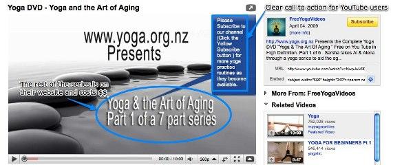 Estrategia de vídeo online pagina de Yoga